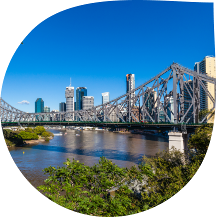 View from the Tippla office of Brisbane's story bridge, Australia